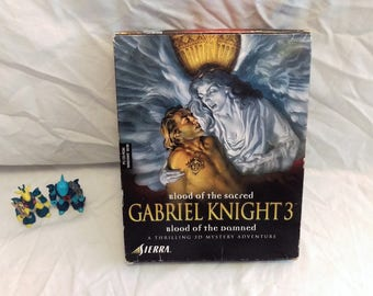 Gabriel Knight 3: Blood of the Sacred, Blood of the Damned Big Box PC Game Retro, Vintage Gaming Collectors CD ROM