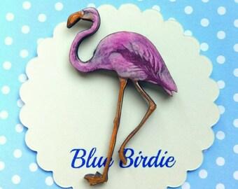 Flamingo brooch flamingo jewelry pink flamingo brooch flamingo jewellery flamingo gift pink flamingo jewelry Alice in wonderland flamingo
