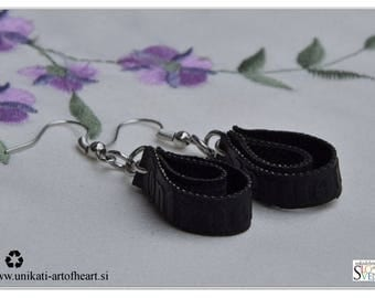 Bicycle Earrings, Bicycle Tires Earrings, Inner Tube Earrings, Recycled Jewelry, Eco Friendly Upcycled Earrings, Gift for Cyclists