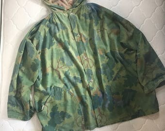 KAMO Brand Mitchell pattern reversible hooded jacket Made in USA