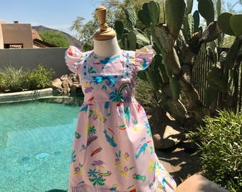 Vintage Girl's Hawaiian Dress /MuMu style