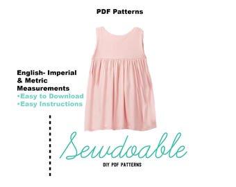 Empire Waist PDF Dress Pattern