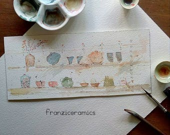 Watercolor on paper arches 300g.  * Watercolour Arches paper 300g. * by Franziceramics.  * * FREE SHIPPING to Italy * *