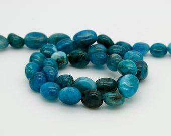 "Natural Apatite Nugget Irregular Chips Pepple Natural Gemstone Loose Beads, 15.5"" Full Strand"