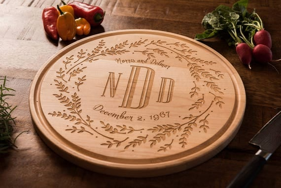 Personalized Wedding Gift, Wood Cutting Board, Engraved, Gift for Her, Couple, Bridesmaid, Best Friend, Anniversary, Housewarming, Christmas