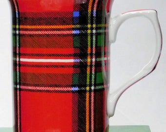 Royal Stewart Plaid, Scottish Tartan MUG,  Imported from England for tea or coffee, dishwasher & microwave safe