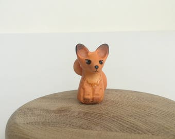 Fox cute little, orange fox, totem animal, fox, wild animal, wild nature, polimer clay fox