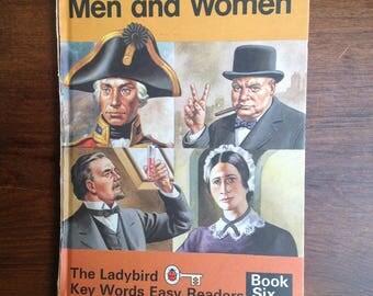 Vintage ladybird book Some great Men and Women 1970s Matt cover