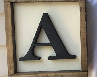 Small initial sign