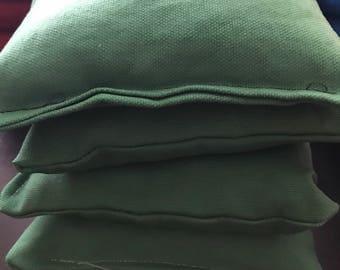 Cornhole bags set of 4- green