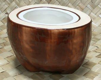 Vintage Steve Crane Coconut Bowl - Tiki Bar