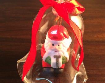 Vintage Lil Chimers Crystal Bell Santa Christmas Ornament w/ Box # 679