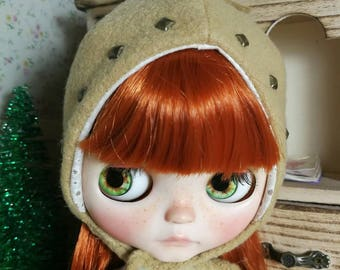 Hat for blythe Doll, winter helmet for Blythe, doll hat, doll helmet, blythe hat, blythe cap, blythe helmet, Blythe beret,  Blythe clothes