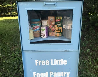Little Free Pantry Recycled Newspaper Box - Decals - INVENTORY SALE