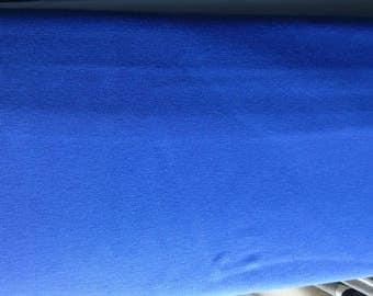 Royal blue jersey knit fabric, blue knit fabric, blue jersey, blue stretch cotton lycra fabric, 4 way stretch fabric