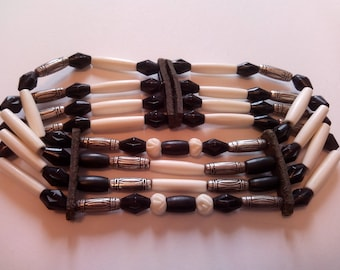 Native American 4 row choker necklace