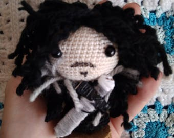 Amigurumi Jon Snow, Amigurumi Game of Thrones, Amigurumi Game of Thrones, Jon Snow, Stark, Game of Thrones, crochet doll