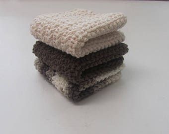Washcloths 100% Cotton Dishcloths Cleaning Clothes Bathcloths