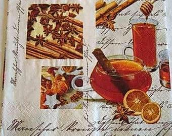 Cinnamon and orange paper towel