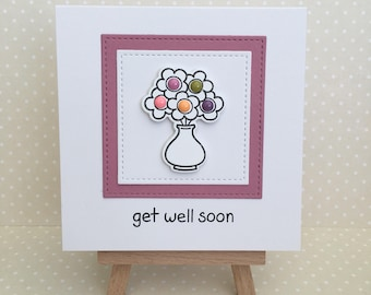 Greetings card / Get well soon / Handmade