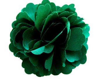 2 Green Rose Flower Baby Girl Hair Clips Brooches 1 Pair