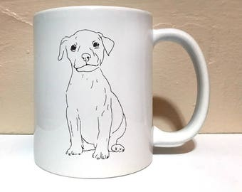 Pit Bull Puppy Dog 11 ounce Mug, Coffee Mug, Funny Mug, Pet Mug