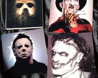 Slasher Horror Coaster Set