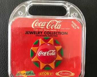Coca Cola Brooch / Badge