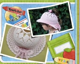 Pattern tutorial crochet pattern model chic unique girl crochet Hat