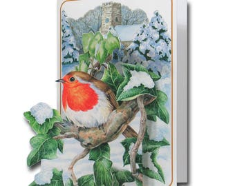 Robin Redbreast - A 3D Pop Up Christmas Greeting Card