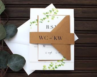 Kraft Modern Wedding Invitation