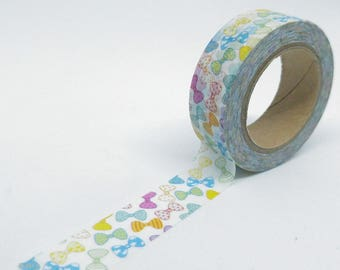 Washi Tape patterns fashion bows patterned various multicolored 10Mx15mm