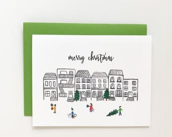 Holiday Neighborhood - Christmas Card