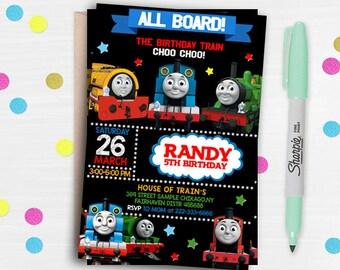 Thomas The Train Invitation ,Thomas The Train Birthday, Thomas The train Birthday Invitation, Thomas The Train Party, Thomas Train-468