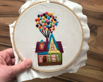 Pixar Up Embroidery