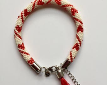 "Pearl bracelet ""Red Heart"""