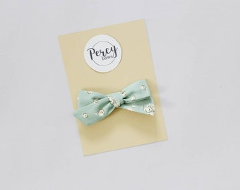 Duck egg florals bow
