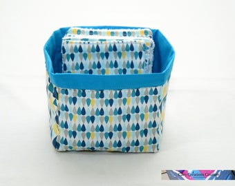 Basket alone or with 6/12 or 24 wipes Eco printed cotton