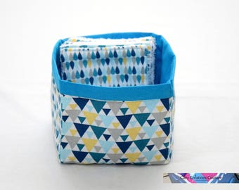 Basket alone or with 6/12 or 24 Eco wipes in printed cotton