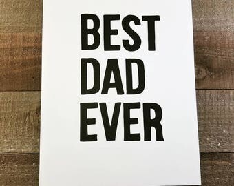 FATHER'S DAY CARD, Blank,  Father's Day Gift, Funny card, Gift for Him, Best Dad Ever, Birthday Card, Gift for Dad, Fun Dad, Funny gifts