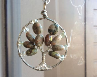 Natural Stone Tree necklace