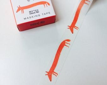 Long Fox Washi Tape
