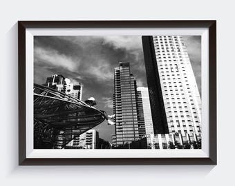 Black and White Photography. New York City Framed Wall Print for Interior Design