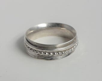Sterling Silver Spinner Ring size 8.5