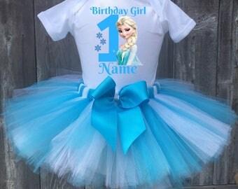 Princess Elsa Birthday Outfit, Elsa First Birthday Outfit, Elsa 1st, 2nd, 3rd, 4th, 5th Birthday Outfit, Frozen Tutu, Elsa Outfit