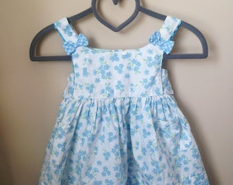 Vtg Blue Sundress For Baby