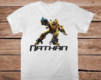 Bumblebee Transformers Tee Tees T-shirt For Kids Bumblebee T-Shirt Transformers Shirts for Boys Superheroe Custom T-shirts for Kids, bb22