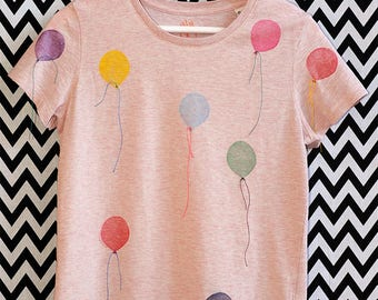 T-SHIRT of balloons bio organic fair wear cat