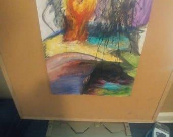 "Mixed media 18×24 original artwork ""Sacrifice"""