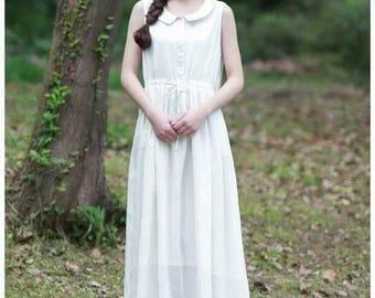 White Linen Dress,linen dress,party dress